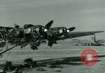 Image of Wreckage of German Me-323 transport airplane at El Aouina airfield Tunis Tunisia, 1943, second 9 stock footage video 65675020479