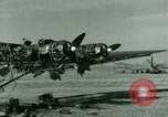 Image of Wreckage of German Me-323 transport airplane at El Aouina airfield Tunis Tunisia, 1943, second 10 stock footage video 65675020479