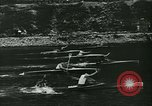 Image of canoe regatta Prague Czechoslovakia, 1943, second 6 stock footage video 65675020607