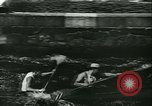 Image of canoe regatta Prague Czechoslovakia, 1943, second 9 stock footage video 65675020607
