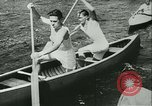 Image of Canoe race Moravia Czechoslovakia, 1942, second 2 stock footage video 65675020632