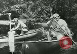 Image of Canoe race Moravia Czechoslovakia, 1942, second 9 stock footage video 65675020632