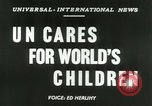 Image of United Nations welfare activities New York United States USA, 1953, second 3 stock footage video 65675020694