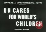 Image of United Nations welfare activities New York United States USA, 1953, second 5 stock footage video 65675020694