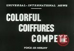 Image of Coiffures compete Paris France, 1953, second 2 stock footage video 65675020698