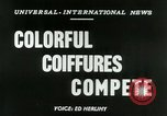 Image of Coiffures compete Paris France, 1953, second 4 stock footage video 65675020698