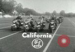 Image of Motorcycle policemen Los Angeles California USA, 1953, second 2 stock footage video 65675020700