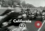 Image of Motorcycle policemen Los Angeles California USA, 1953, second 4 stock footage video 65675020700