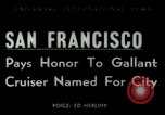 Image of USS San Francisco San Francisco California USA, 1950, second 1 stock footage video 65675020704