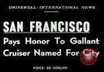 Image of USS San Francisco San Francisco California USA, 1950, second 2 stock footage video 65675020704