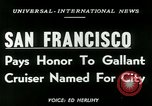 Image of USS San Francisco San Francisco California USA, 1950, second 4 stock footage video 65675020704