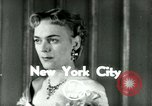 Image of Christine Jorgenson New York City USA, 1953, second 2 stock footage video 65675020719