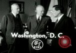Image of President Dwight Eisenhower Washington DC White House USA, 1953, second 1 stock footage video 65675020732