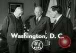 Image of President Dwight Eisenhower Washington DC White House USA, 1953, second 4 stock footage video 65675020732