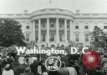 Image of President Dwight Eisenhower Washington DC White House USA, 1953, second 3 stock footage video 65675020734