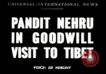 Image of Jawaharlal Nehru Tibet, 1949, second 1 stock footage video 65675020787