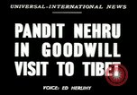 Image of Jawaharlal Nehru Tibet, 1949, second 2 stock footage video 65675020787