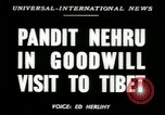 Image of Jawaharlal Nehru Tibet, 1949, second 3 stock footage video 65675020787