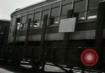 Image of American trolley cars Vienna Austria, 1949, second 9 stock footage video 65675020788