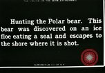 Image of Polar bear hunting Herschel Island Arctic Ocean, 1915, second 1 stock footage video 65675020856