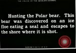 Image of Polar bear hunting Herschel Island Arctic Ocean, 1915, second 6 stock footage video 65675020856