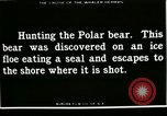 Image of Polar bear hunting Herschel Island Arctic Ocean, 1915, second 9 stock footage video 65675020856