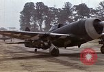 Image of P-47 and P-38 aircraft operating from St.Mere Eglise Saint Mere Eglise France, 1944, second 11 stock footage video 65675020911