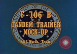 Image of F-106B Tandem Trainer Fort Worth Texas USA, 1956, second 3 stock footage video 65675020954
