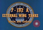 Image of F-102A Edwards Air Force Base California USA, 1956, second 4 stock footage video 65675020955