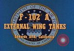 Image of F-102A Edwards Air Force Base California USA, 1956, second 5 stock footage video 65675020955