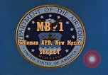Image of MB-1 rocket Holloman Air Force Base New Mexico USA, 1956, second 6 stock footage video 65675020956