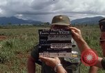 Image of Major Fiacco of US Army discussing sniper training Vietnam, 1967, second 5 stock footage video 65675021014