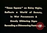 Image of Times Square neon lights New York City USA, 1954, second 2 stock footage video 65675021109