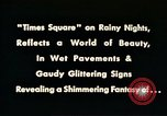 Image of Times Square neon lights New York City USA, 1954, second 6 stock footage video 65675021109
