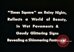 Image of Times Square neon lights New York City USA, 1954, second 10 stock footage video 65675021109
