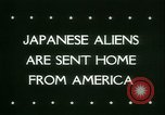 Image of Japanese aliens Seattle Washington USA, 1945, second 5 stock footage video 65675021160
