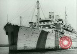 Image of Ship Gripsholm delivers Americans freed from internment by Germany New York City USA, 1944, second 7 stock footage video 65675021166