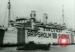 Image of Ship Gripsholm delivers Americans freed from internment by Germany New York City USA, 1944, second 11 stock footage video 65675021166