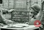 Image of Prisoner Interrogation Vallery France, 1944, second 7 stock footage video 65675021185