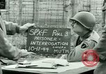 Image of Prisoner Interrogation Vallery France, 1944, second 9 stock footage video 65675021185