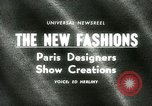 Image of Paris designers Paris France, 1965, second 1 stock footage video 65675021206