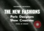 Image of Paris designers Paris France, 1965, second 3 stock footage video 65675021206