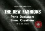 Image of Paris designers Paris France, 1965, second 4 stock footage video 65675021206
