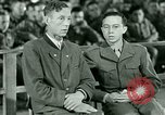 Image of testimony and sentencing of Franz Strasser Dachau Germany, 1945, second 10 stock footage video 65675021223