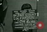 Image of IG Farben Trial Nuremberg Germany, 1947, second 2 stock footage video 65675021227