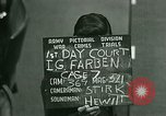 Image of IG Farben Trial Nuremberg Germany, 1947, second 6 stock footage video 65675021227