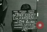 Image of IG Farben Trial Nuremberg Germany, 1947, second 9 stock footage video 65675021227