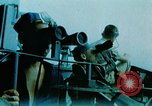 Image of 5 inch guns fired aboard USS Yorktown World War 2 Pacific Ocean, 1943, second 1 stock footage video 65675021554
