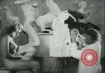 Image of German sculptor Germany, 1942, second 11 stock footage video 65675021787