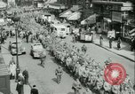 Image of Allied prisoners prisoners of war being moved through city streets Paris France, 1944, second 4 stock footage video 65675021801